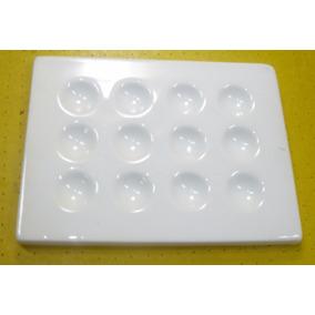 Material Laboratorio Placa Toque Porcelana 12 Huecos X 1 U