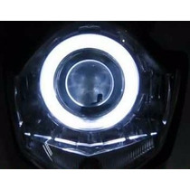 Farol Projetor Bi Xenon Retrofit Led Angel Eyes! H1 H3 H4 H7