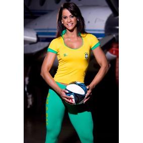 Califórnia Sport Blusa Brasil Supplex Forrada Super Promoção