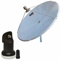 Kit Antena 1,50 Cm Ku Bedin Sat Oi Tv Hd + Lnbf + Cabo