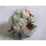 Buque De Noivas Rosas Brancas E Vermelhas - Lindo Elegante
