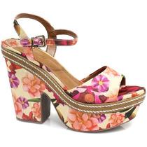 Sandália Zariff Shoes Plataforma Floral | Zariff