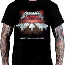 Camiseta Metallica - Master Of Puppets (preta)