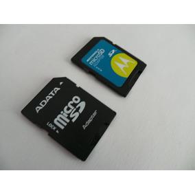 Adapatadores Microsd A Sd. Adata Y Motorola
