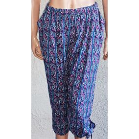 Pantalon $600 Capri Fibrana Talles Grandes H 160 Cadera