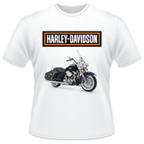 Camiseta Moto Harley Davidson Motor Cycles Road King Classic
