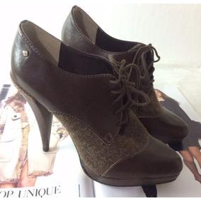 Bota # Ankle Boot Capodarte Marrom Couro Bico Fino #melissa#