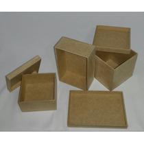 Kit Com 35 Caixas 10x10x10cm Mdf Cru, Pronta Para Decorar.