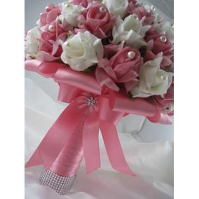 Buquê De Noiva Rosa E Branco