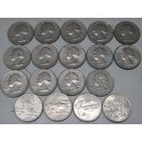 Lote 18 Monedas 1/4 Dolar 1968/2008 Coleccionista + 1regalo