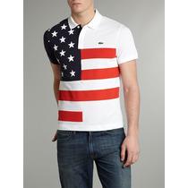 Camisa Camiseta Polo Lacoste Estados Únidos Países