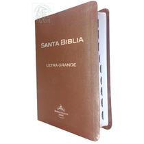 Biblia Letra Grande Imitación Piel Indice Café Envio Rvr60