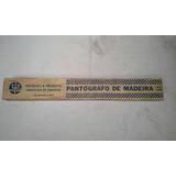 Antigo Pantógrafo Trident De Madeira 40cms ( Negraes )
