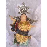 Virgen De Quito Gordita En Madera