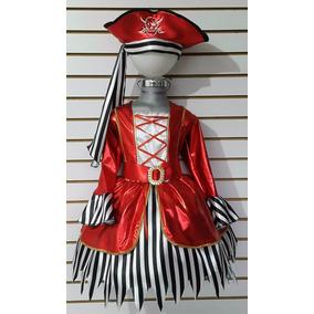 Disfraz Pirata Niña Vestido Mallas Sombrero Pirata Disfraces
