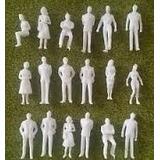 Lote De 50 Personas Blancos Personajes Maqueta Esc 1:200