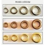 Ojalillos Metal Hierro Nº 1700 Color Niquel C/arand X 100 U