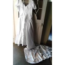 Vestido De Novia Hermoso Y Accesorios Bodas Encaje Completo