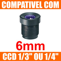 Mini Lente 6mm P/ Mini Camera E Micro Camera - Lente Cftv