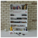 Organizador Porta Maquiagem Esmalte Branco - Mdf
