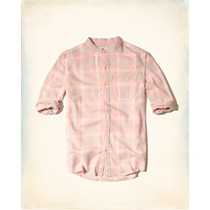Hollister Camisa Franela Cuello Alto Rosa Talla S Original