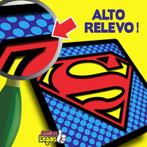 Super Heróis Avengers Batman Superman Placa Quadro Relevo