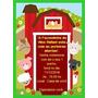 20 Convites Personalizados Infantil Tema Fazendinha C/ Envel