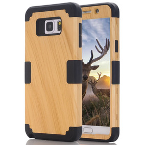 Funda Para Galaxy Note 5,3 In 1 Wood Series Hybrid Defender