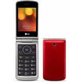 Celular Lg G360 Flip Dual Chip Rádio Fm Mp3 1.3mp Vermelho