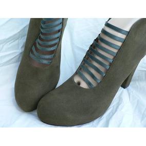 Zapato Plataforma Esc Demaria Nuevo Nº 40 Gamuza