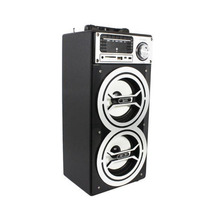 Speaker Portátil Bak Bk-s446 Pmpo 5000w Fm Usb Preto E Prata