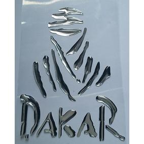 Adesivo Resinado Dakar Tenere Moto Carro Capacete Relevo