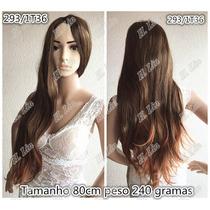 Peruca 293/1t36 Ombre Hair Repicado Californiana Castanho Do