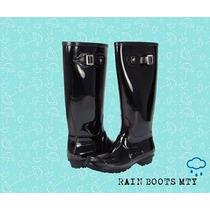 Botas De Lluvia Negras / Rain Boots De Moda