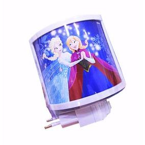 Frozen Mini Abajur Luminária Tomada Luz Menina Noite Bivolt