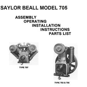 Juego Anillos 6094 Compresor Aire Saylor Beall Modelo 705