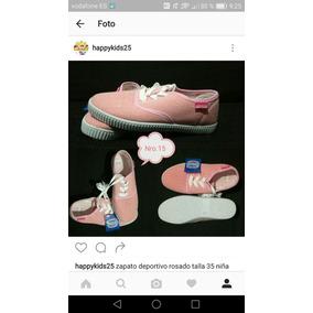 Zapatos Rosados Importados Muy A La Moda Para Niñas Nro 35