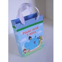 Sacolinhas Personalizadas Para Festa Infantil, Kit Com 25