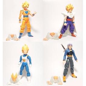 Dragon Ball Goku Gohan Trunks Vegeta Bonecos Articulados