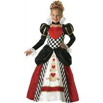 Chicas Tamaño 4 Deluxe Reina De Corazones Traje Vestido