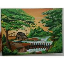 Tela Pintura Em Acrílico Paisagens 30x40