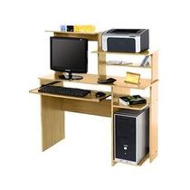 Mesa De Pc Oficina Platinum 9017 Roble Impresora Scanner