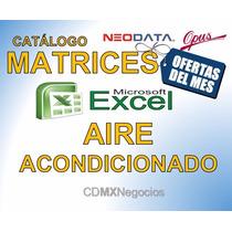 Aire Acondicionado Y Equipos Excel Mayo 2017 Analisis Matriz
