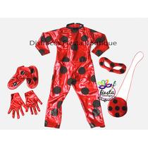 Disfraz Ladybug Catarina Lady Bug Licra Niña Envio Gratis