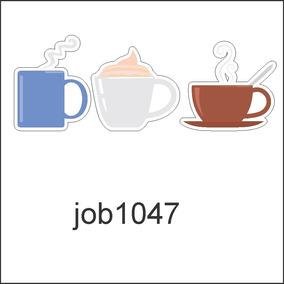 Adesivo Decorativo Café Bebida Comida Alimento Job1047