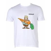 Camiseta Vegan Cenoura 100% Algodão Silk Digital
