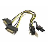 Cable Power Adaptador 2x Sata A Pci-e 8 (6+2) Calidad 18awg