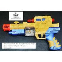 Revolver Pistola De Brinquedo C/ Mira Laser Emite Som E Luz