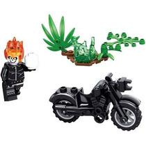 Motoqueiro Fantasma C/ Moto Minifiguras Lego Compatíveis K01