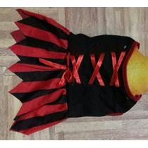 Vestido Disfraz Bruja Pirata Perrita Talla 2.